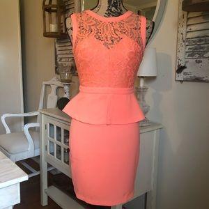 Pretty peach dress. Size 1